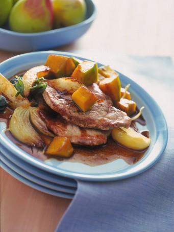 piatto-pronto-piatti-blu-tovagliolo-fruttiera-pere