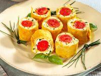 sushi di frittata e pomodorini Sale&Pepe