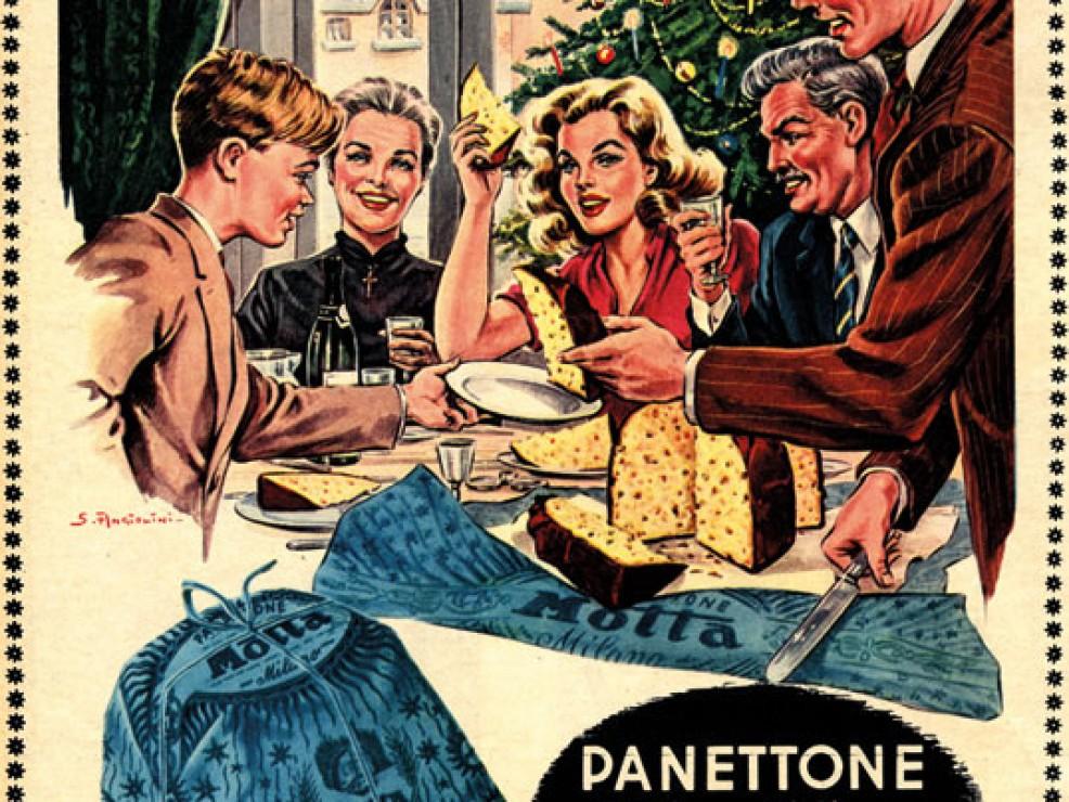Pubblicità Panettone Motta - 1950