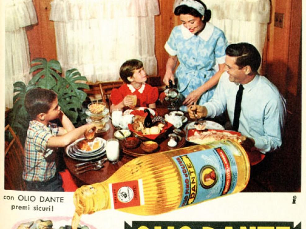 Pubblicità olio Dante - 1960