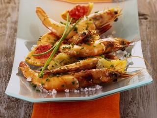 gamberoni al forno con pompelmo Sale&Pepe