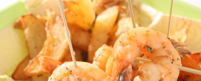 Gamberoni-patate-origano