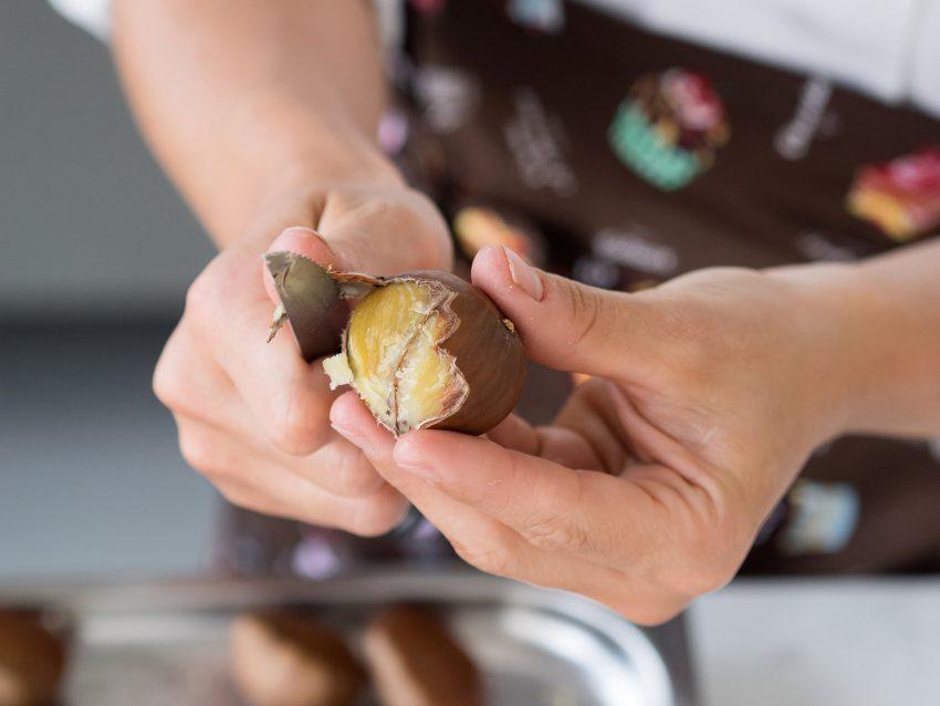 Mousse di castagne con salsa di cachi-01