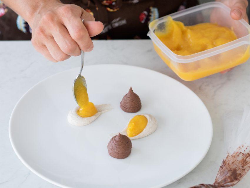 Mousse di castagne con salsa di cachi-06