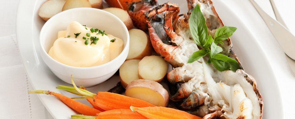astice grigliato con le verdure Sale&Pepe