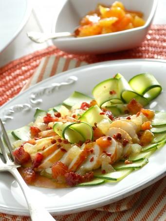 carpaccio di aragosta con zucchine e agrumi Sale&Pepe