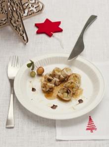 Fagottini di tacchino alla mostarda di Natale