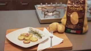 Patate Selenella tagliate con buccia e infornate