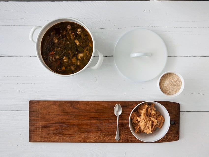 polpettine di triglia e branzino in brodo vegetale Sale&Pepe preparazione
