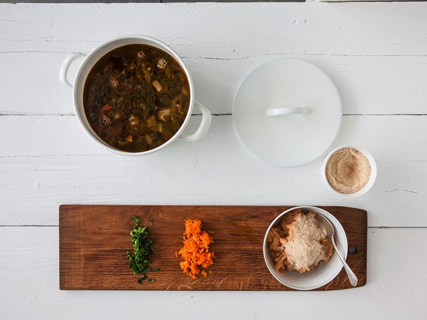 foto polpettine di triglia e branzino in brodo vegetale Sale&Pepe