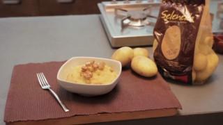 Purè ricco con cubetti di tofu e patate Selenella