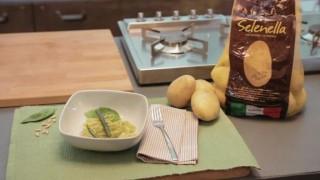 Bavettine pesto, fagiolini e patate Selenella