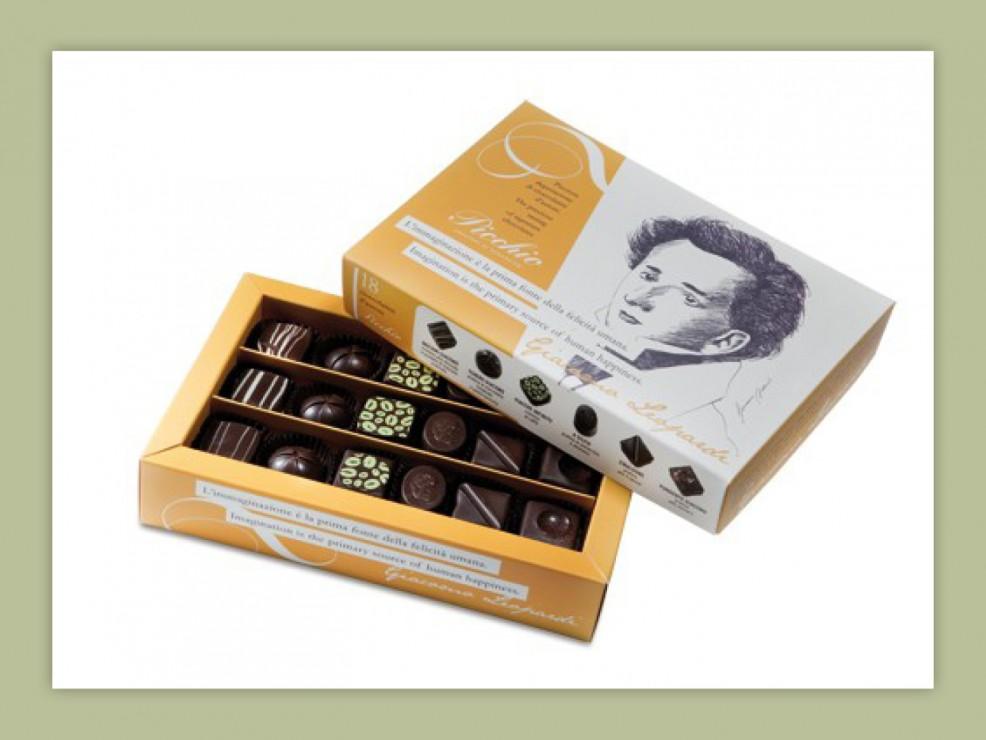 Confezione di cioccolatini d'autore della Pasticceria Picchio di Recanati