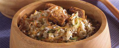 riso saltato con verdure e tofu