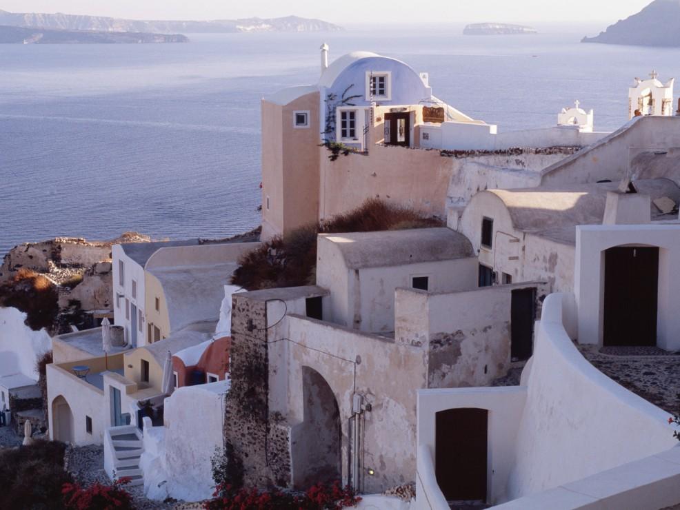 Gracia, il villaggio di Oia nell'isola di Santorini