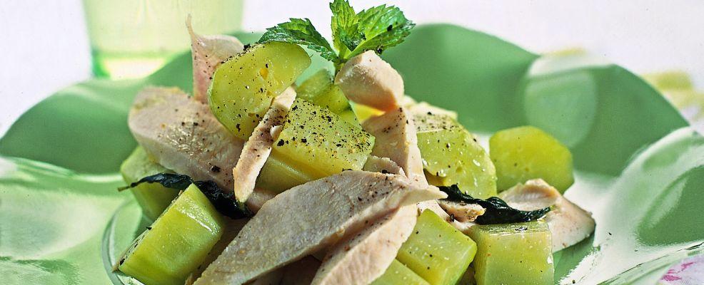 Insalata di pollo con cetrioli alla menta sale pepe for Cucinare cetrioli