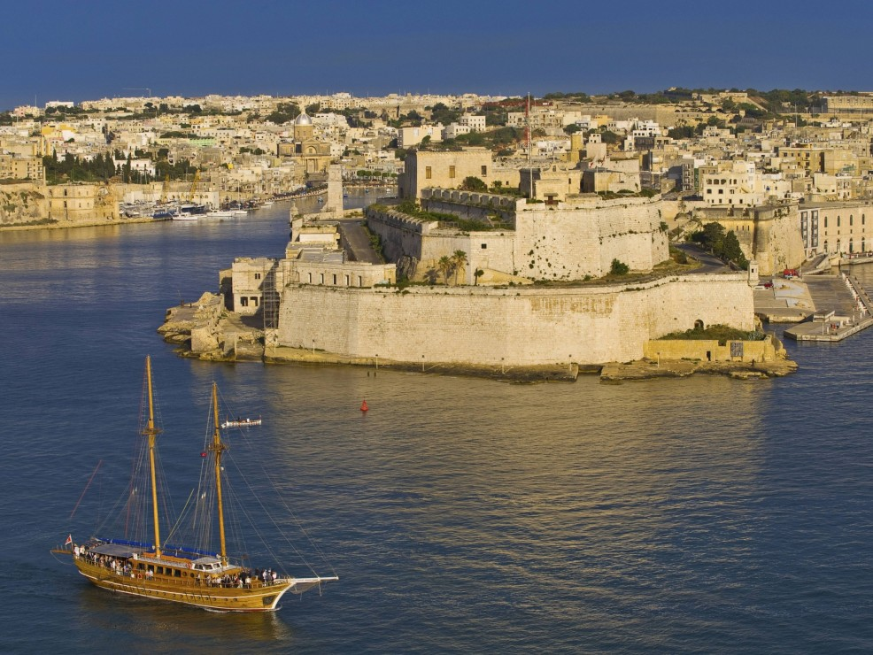Malta, Forte Sant'Angelo visto dal Porto Grande
