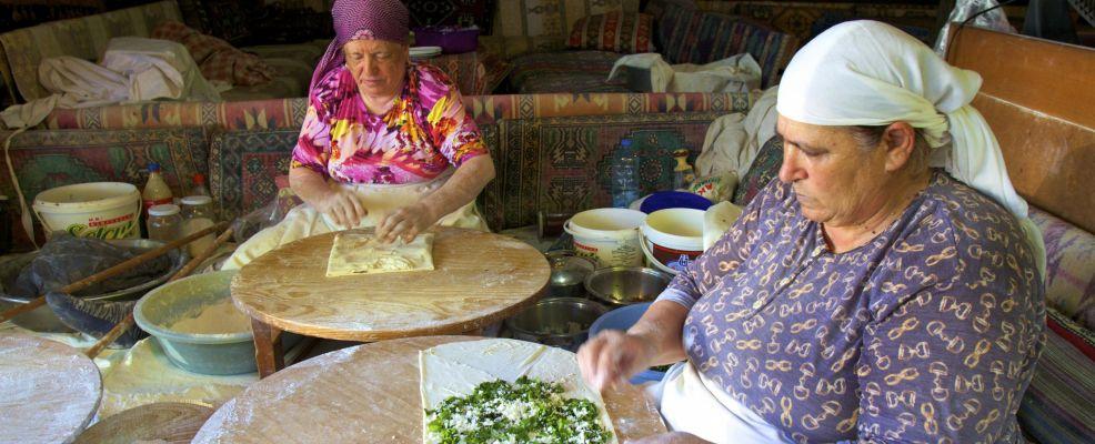 Ladies Preparing Traditional Turkish Gozlemele, Turkey