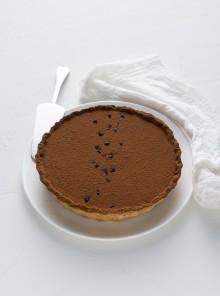 Doppia tarte al sale nero