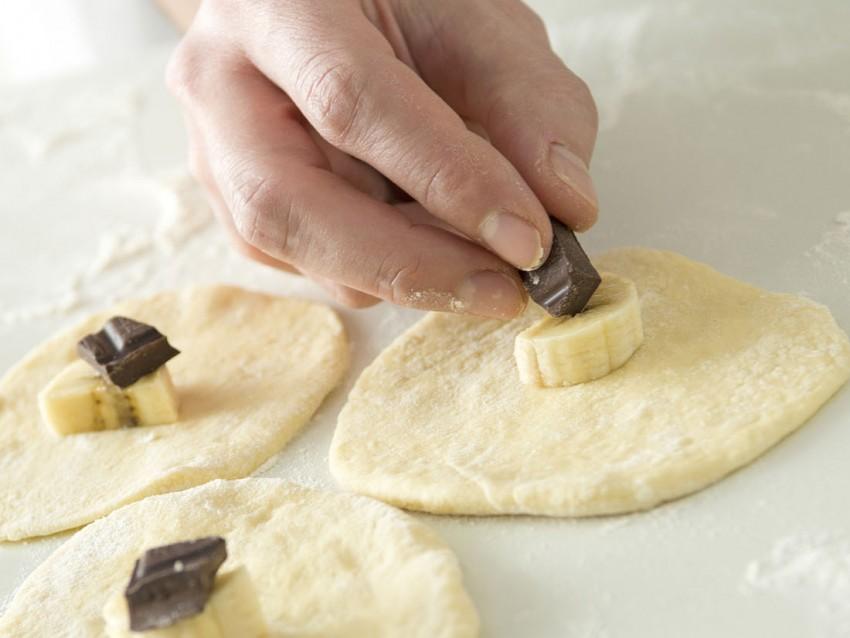 foto panzerottini alla banana e cioccolato Sale&Pepe