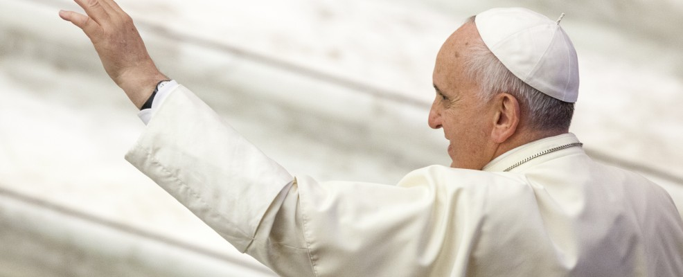 Pope Francis attends a meeting with paralympic athletes