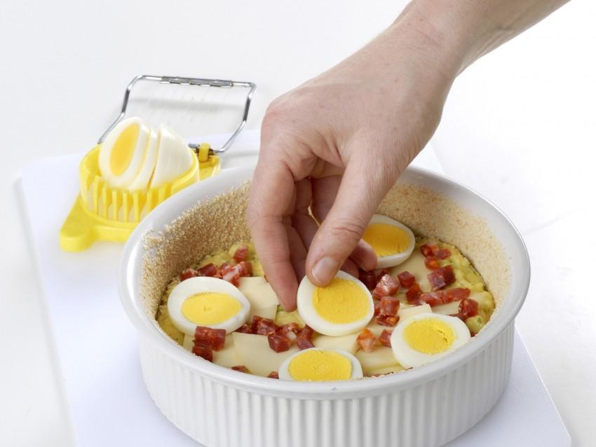 timballo di patate con provolone e salsiccia Sale&Pepe step