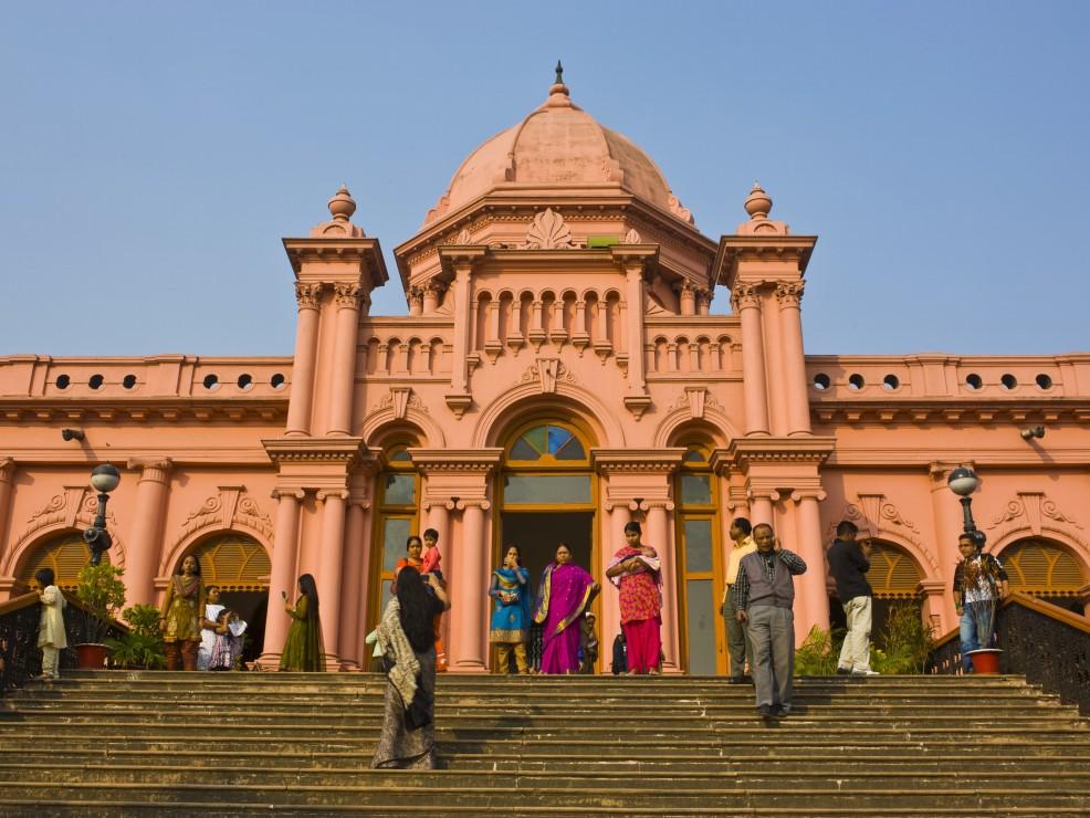 Il Palazzo Rosa, l'Ahsan Manz, a Dacca in Bangladesh