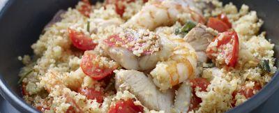 Cuscus di pesce con pomodorini