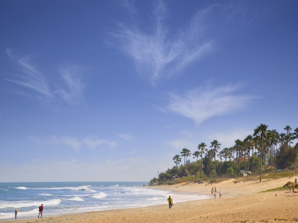 La spiaggia di Fajara, in Gambia