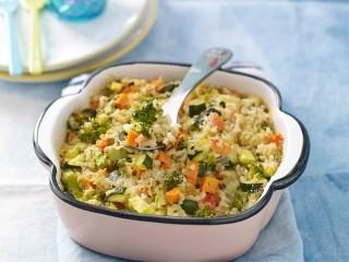 pirofila di riso integrale strapazzato al forno con le verdure Sale&Pepe ricetta