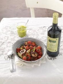 I polpi alla piastra con pomodorini e sedano