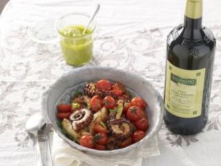polpi alla piastra con pomodorini e sedano Sale&Pepe ricetta