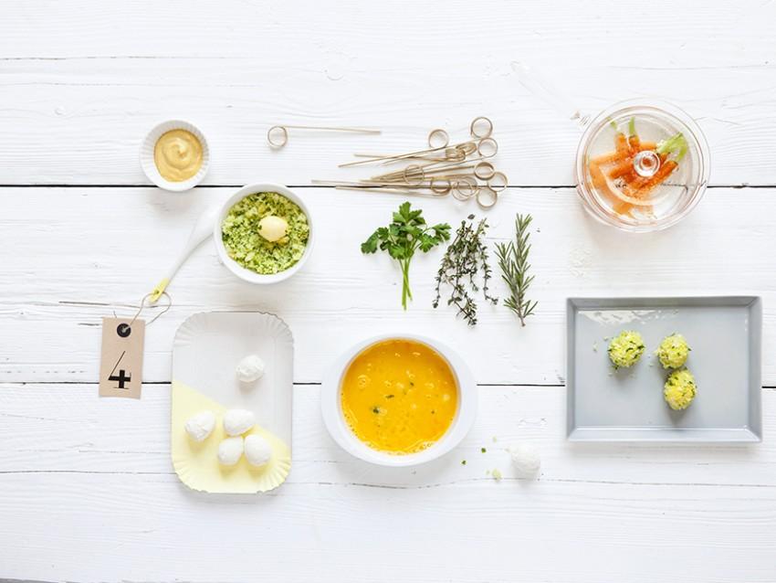 spiedini di uova di quaglia fritte con maionese di carote Sale&Pepe immagine
