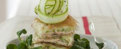 Strudel di pasta fillo, asparagi e salmone