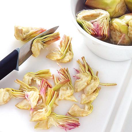 Finte pappardelle di crepes con carciofi