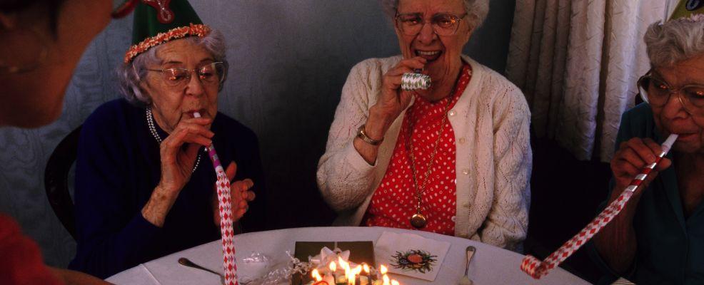 Senior Women Celebrating a Birthday