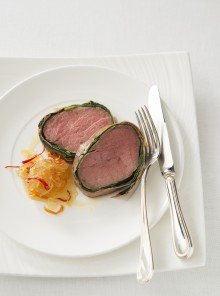 Filetto al prosciutto con marmellata di peperoncini