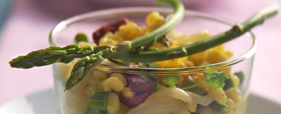 Insalatina con asparagi selvatici
