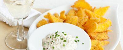 chips croccanti con mousse di porcini ricetta