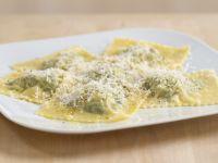 Ravioli ricotta e spinaci (Spinach and ricotta filled ravioli, Italy)