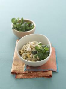 Spaghetti di soia con spada e menta