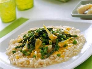 Risotto asparagi e crema di uova