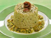 Timballini di riso e asparagi con salsa di uova
