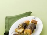 Spiedini di involtini ripieni alla salsiccia