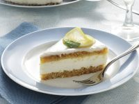 Torta con mousse di yogurt