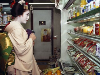Geisha Shopping in Gion Supermarket