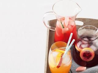 pirsicata, acqua di anguria alla rosa e claret cup