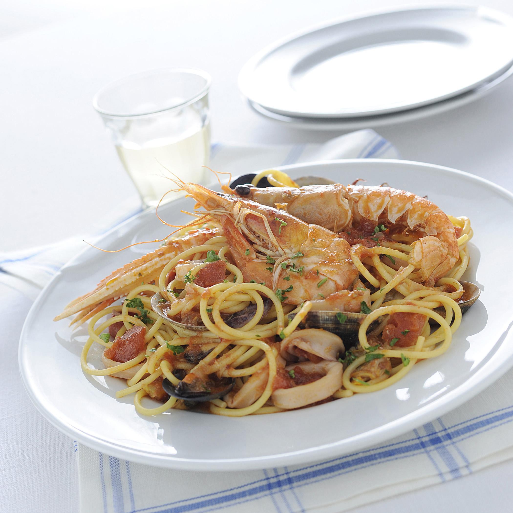 Spaghetti ai frutti di mare le migliori ricette sale pepe for Spaghetti ricette
