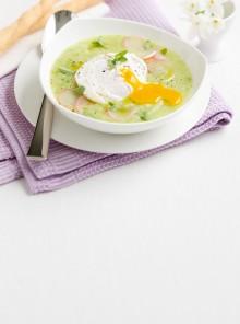 Zuppetta di patate e zucchine ai ravanelli