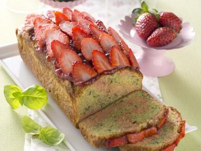 Cake alle fragole e basilico